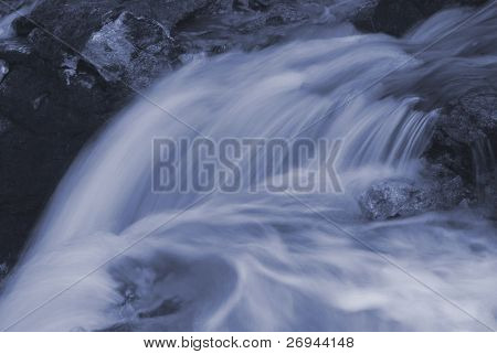 Blue-toned waterfall