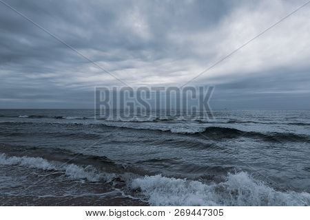See Storm, Gloomy Sky. A Stock Photo.