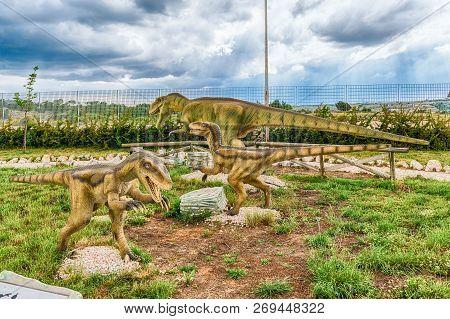 San Marco In Lamis, Italy - June 9: Dinosaurs Featured In The Dino Park In San Marco In Lamis, Small