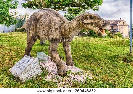 San Marco In Lamis, Italy - June 9: Iguanodon Dinosaur, Featured In The Dino Park In San Marco In La