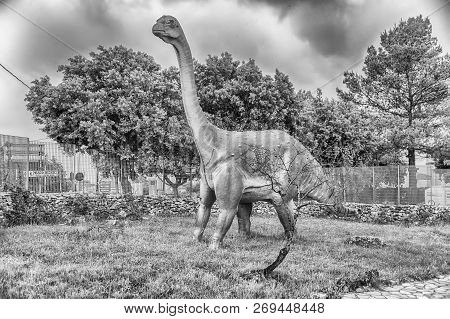 San Marco In Lamis, Italy - June 9: Titanosaur Dinosaur, Featured In The Dino Park In San Marco In L