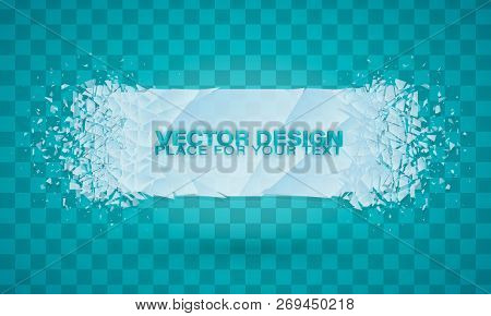 Christmas. Cold Crystals Frame. Crystal Frozen Structure. Vector Frozen Ice Icicle Frames For Sale O