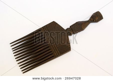 African wooden comb from Swaziland