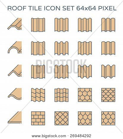 Roof Tile Icon Set, Vector & Photo (Free Trial) | Bigstock