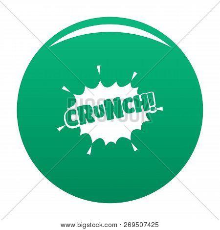 Comic Boom Crunch Icon. Simple Illustration Of Comic Boom Crunch Vector Icon For Any Design Green