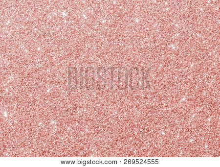Rose Gold Glitter Texture Pink Red Sparkling Shiny Wrapping Paper Background For Christmas Holiday S