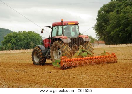 French Tractor Ploughing