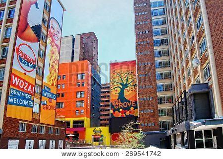 Development Of Civil Engineering In Johannesburg. Modern View Of Johannesburg. Braamfontein Is A Cen