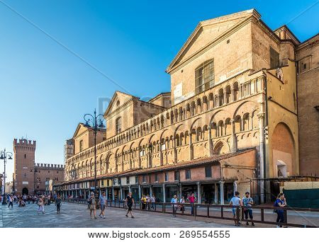Ferrara,italy - September 23,2018 - View At The Trento Place In Ferrara.ferrara Is A Town And Comune