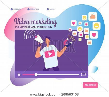 Viral Video Marketing. Personal Brand Promotion, Social Network Communication And Influencers Videos