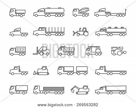 Construction Machines. Trucks, Tractors, Delivery Trailers, Cargo Trukcs, Dumpers And Heavy Equipmen