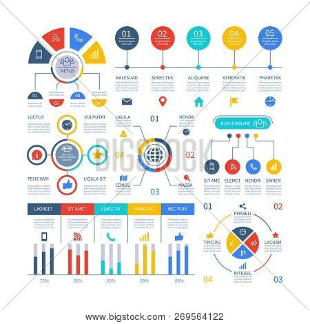 Presentation Infographics. Flowchart Timeline Process Chart, Organization Workflow, Number Option Di