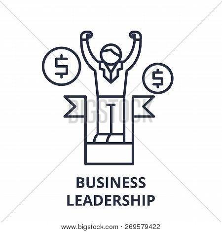Business Leadership Line Icon Concept. Business Leadership Vector Linear Illustration, Symbol, Sign