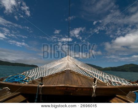 Boat Bow With Sky
