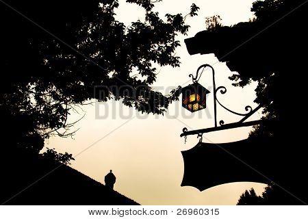 Medieval burgh silhouette