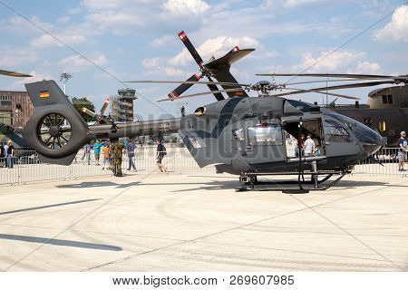 Wunstorf, Germany - June 9, 2018: German Air Force (luftwaffe) Airbus H145m Military Utility Helicop