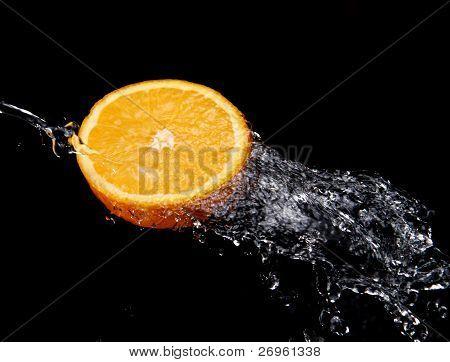 Fresh Water Splash And Orange