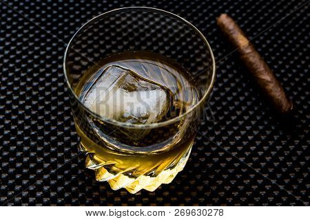 Godfather Cocktail With Cigar