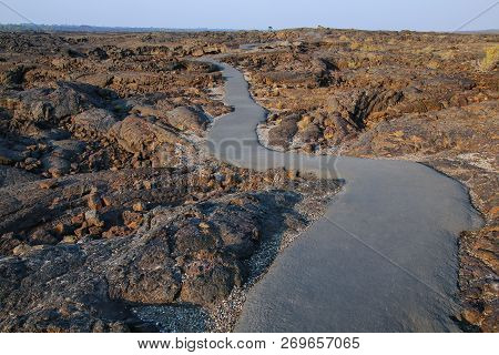 Trail Leading To The Cave Area, Craters Of The Moon National Monument, Idaho, Usa. The Monument Repr