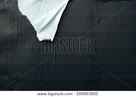 Torn Ripped Black And White Poster Paper Surface As Background