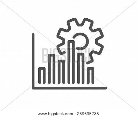 Seo Graph Line Icon. Search Engine Optimization Sign. Analytics Symbol. Quality Design Flat App Elem