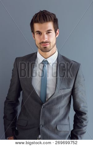 Portrait of young handsome man