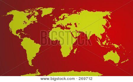 Vector - World Map ( Red)