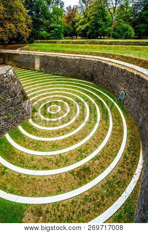 Concentric Circles In The Lambert Redoubt Ruins. The Ruins Are Part Of A Seventeenth-century Fort In