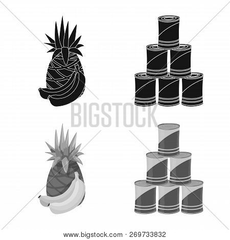 Isolated Object Of Food And Drink Symbol. Set Of Food And Store Vector Icon For Stock.