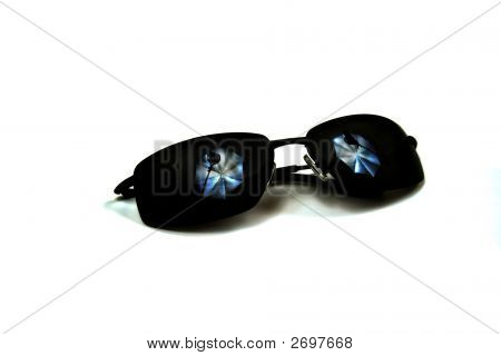 Sunglasses With Studio Lighting Reflection