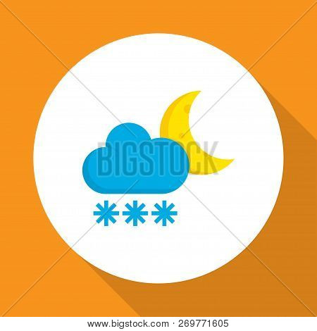 Frost Icon Flat Symbol. Premium Quality Isolated Frosty Element In Trendy Style.
