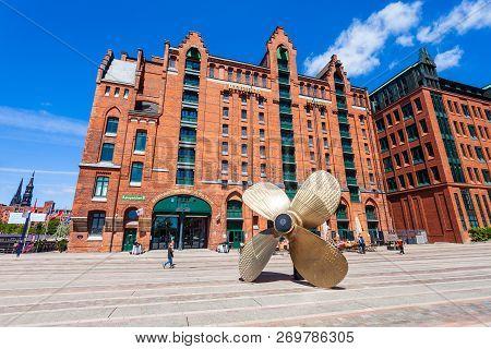 Hamburg, Germany - July 07, 2018: International Maritimes Museum In The Hafencity Quarter Of Hamburg