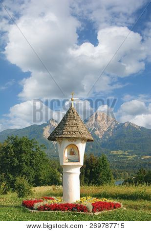 Wayside Shrine At Lake Faaker See In Carinthia,austria