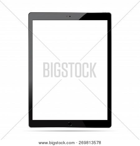 Tablet Pc Mockup Set. Mobile Device Vector Illustration. Phablet Isolated On White Background.