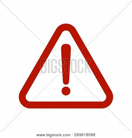 Exclamation Icons Vector, Attention Icon Flat Eps10, Vector Attention Sign With Exclamation Mark Ico