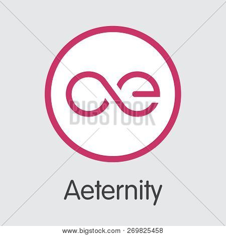 Aeternity Ae - Cryptographic Currency Graphic Symbol. Digital Coin Icon.