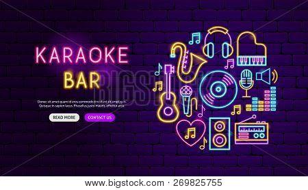 Karaoke Bar Neon Vector & Photo (Free Trial) | Bigstock