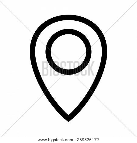 Location Pin Icon Vector On White Background. Map Pointe Icon, Location Pin Icon Modern Icon For Gra