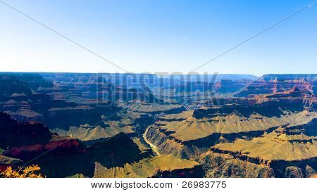 Majestic Grand Canyon landscape aerial view