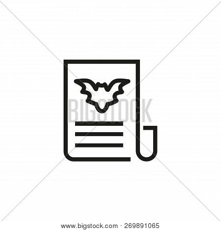 Halloween News Line Icon. Article, News, Headline. News Concept. Vector Illustration Can Be Used For