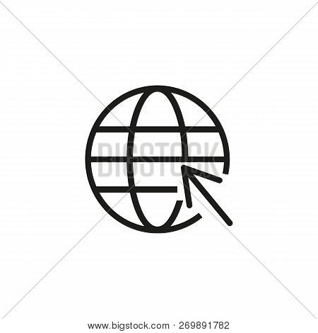 Web Line Icon. Internet, World Web, Modern Lifestyle. Internet Concept. Vector Illustration Can Be U