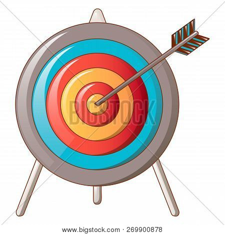 Hit The Target Icon. Cartoon Of Hit The Target Icon For Web Design Isolated On White Background