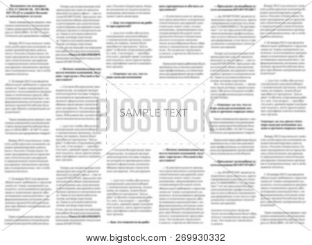 Newspaper Sample With Copy Space For Your Text On The Blurred Columns Background. Mockup For Tabloid