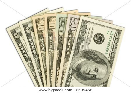 American Money Fanned Out