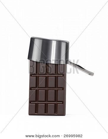 One chocolate bar with pan cap. poster