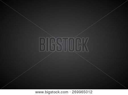 Black & White Abstract Background With Radial Gradient Effect.abstract Luxury Black Gradient. Vignet