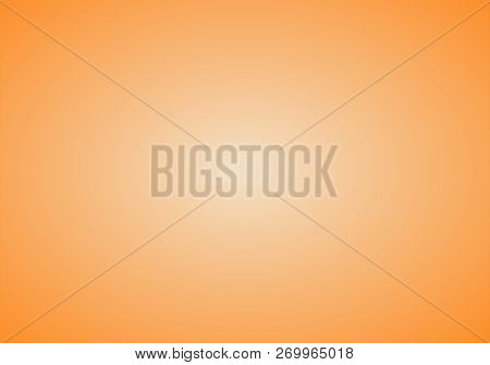 Orange  & White Abstract Background With Radial Gradient Effect.abstract Luxury Orange Gradient. Vig