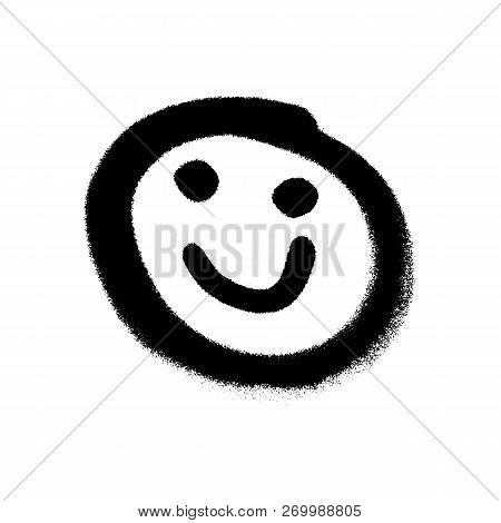 Graffiti Grunge Emoji With Black Ond White Colour