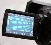 display of an full HD camcorder poster