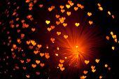 shiny hearts background poster